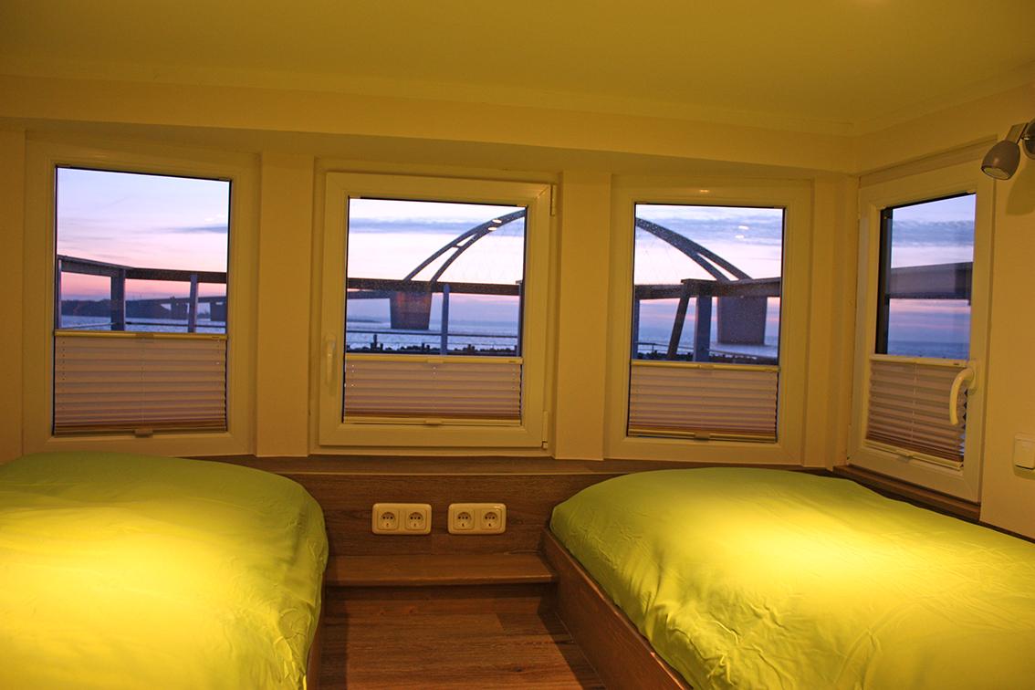 Under Dock Hausboot Schlafbereich